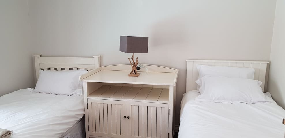 The 3rd bedroom comprises of 2 single beds. There is a changing table for families with babies.