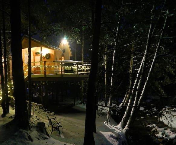 Lily's Brookside Treehouse     Skiers welcome - Duxbury