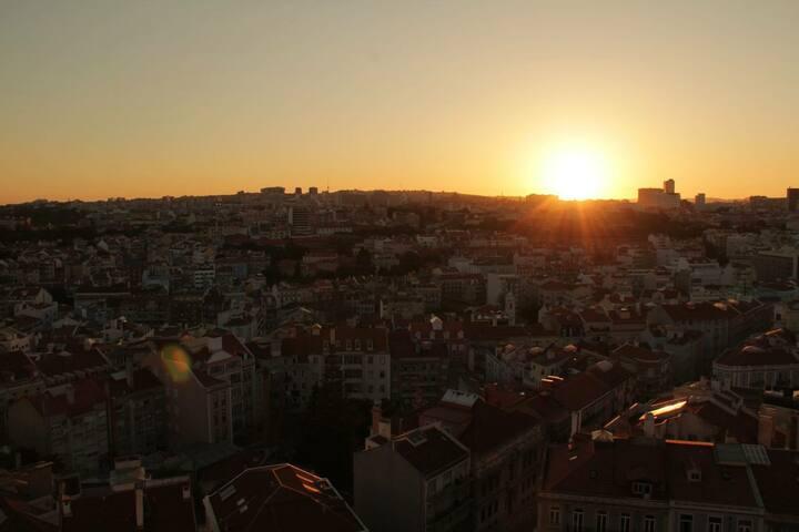 Amazing view over Lisbon