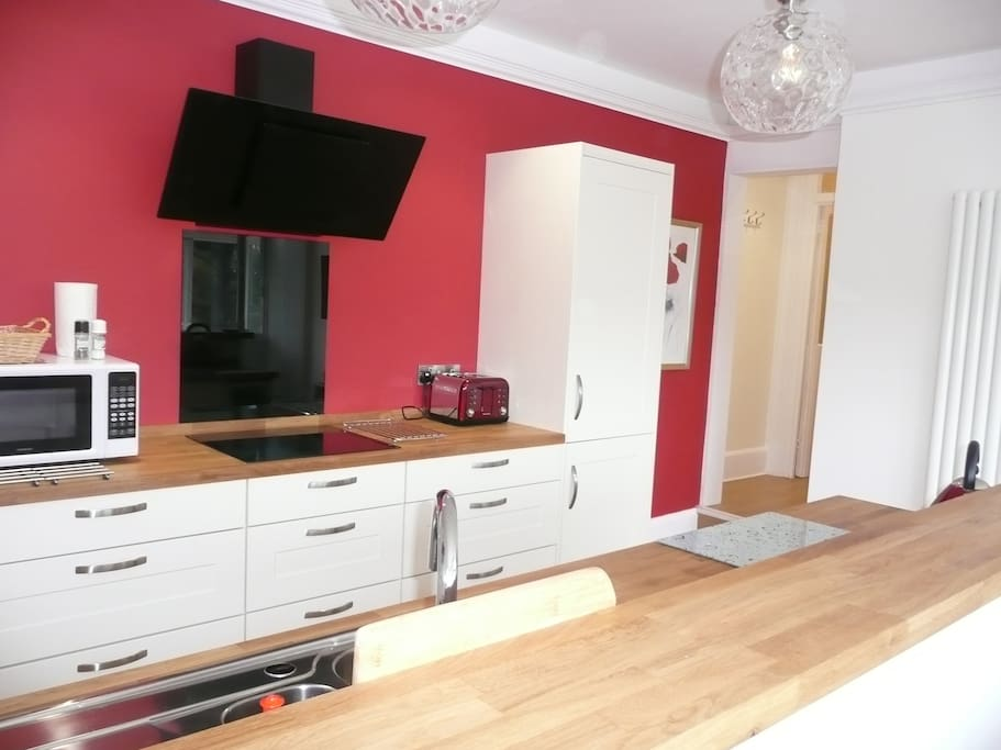 Lovely kitchen area fully equipped