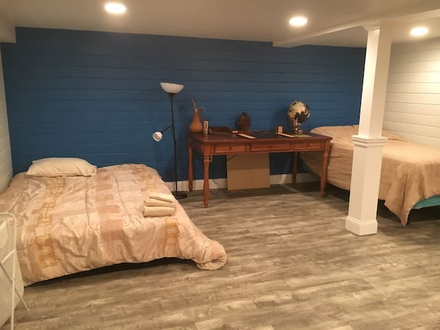 Blue basement suite in charming Cape Cod