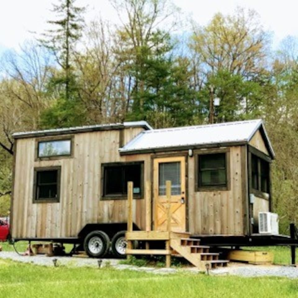 Welcome Home! Brand new, custom built tiny house on 4 acres with a creek!