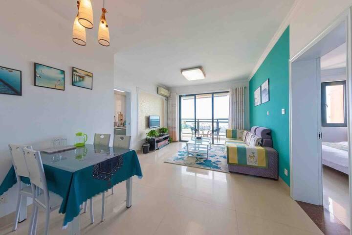 [一客一消毒]临海居~23楼一居室高层海景,近银滩.码头.风情街.万达