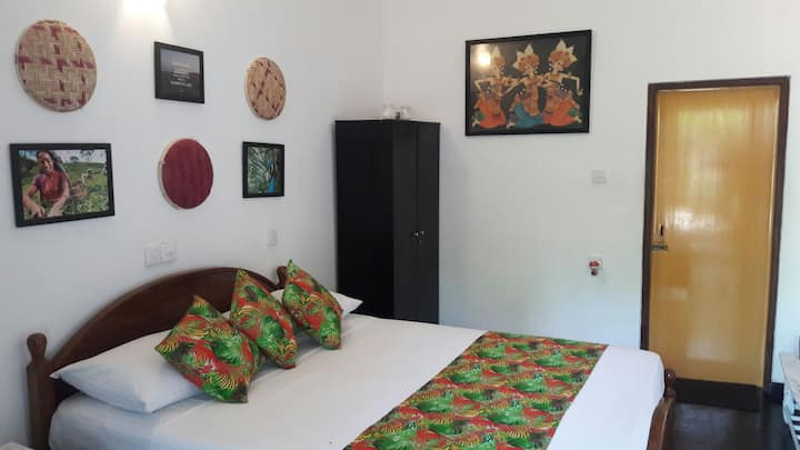 Double Room with fan,hot water,wifi, tv,mini bar