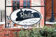 Historic Downtown Rails a Cafe at the Depot