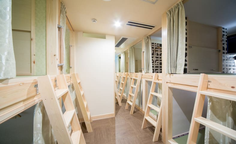 Mixed Capsule Dorm with Free wifi
