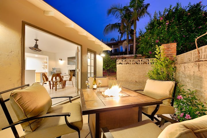 Beach Bungalow Casita W/Firepit + Walk to Sand & Shops