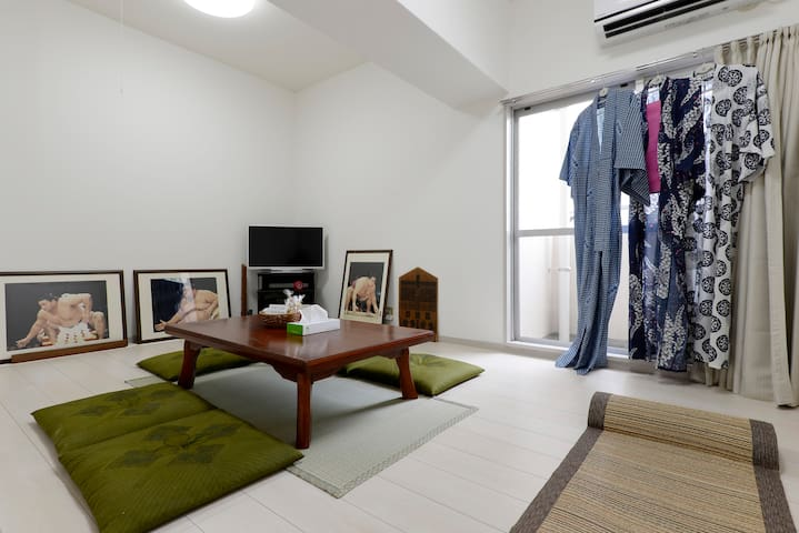 2 Bedroom Apt 5minSTA Easy>TokyoSkytree TV+WiFi - Katsushika-ku - Apartment
