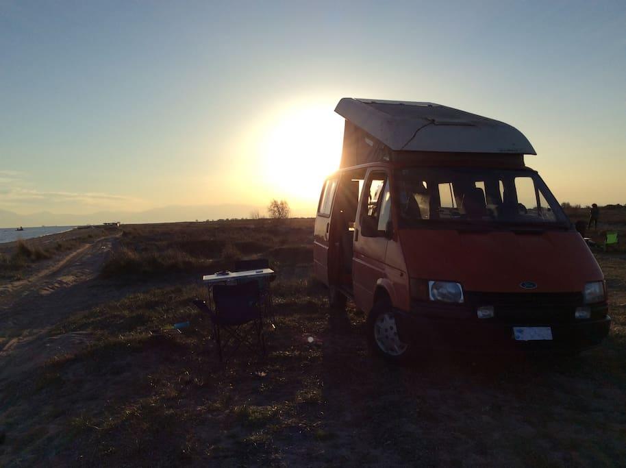 Sun set in Halkidiki