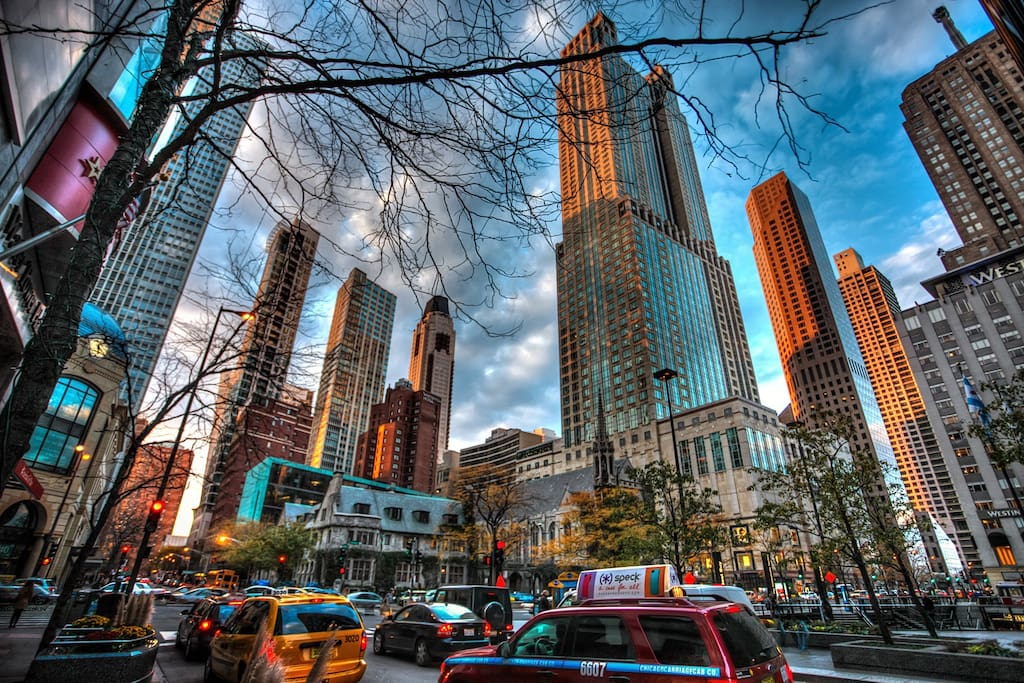 Magnificent Mile (1 block away) A walkers paradise