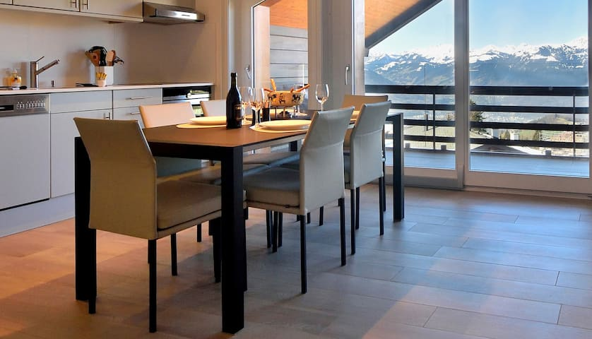 Modern appartment in the center of Villars