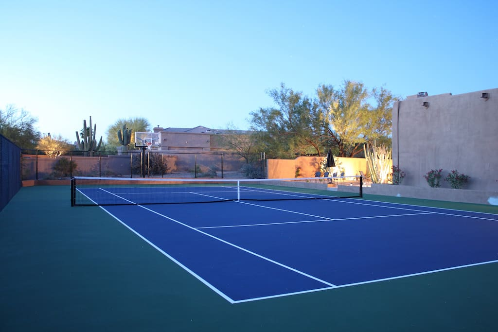 Enjoy tennis or basketball? This private court was recently built and it's all yours!