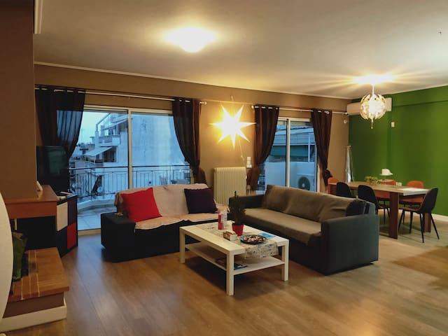 Duplex apartment quite good location.