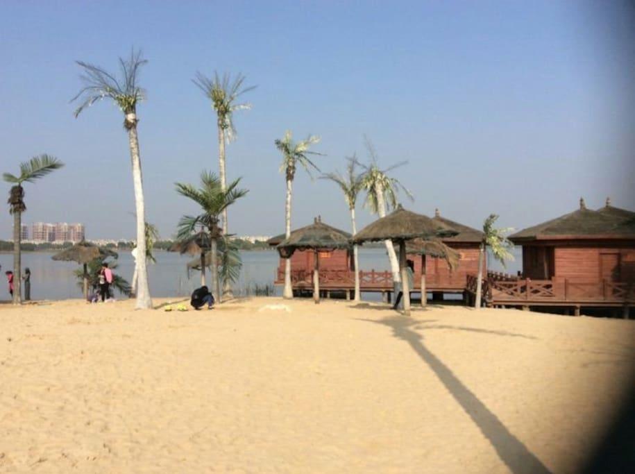 湖边风景(沙滩)