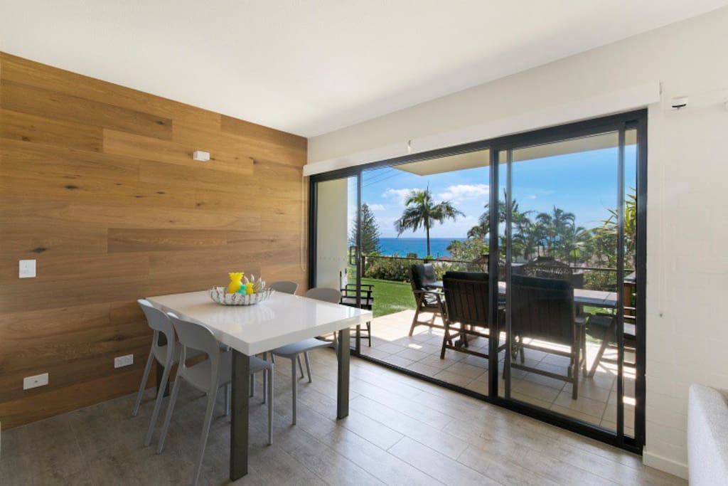 Indoor and outdoor dining options with a view - BBQ