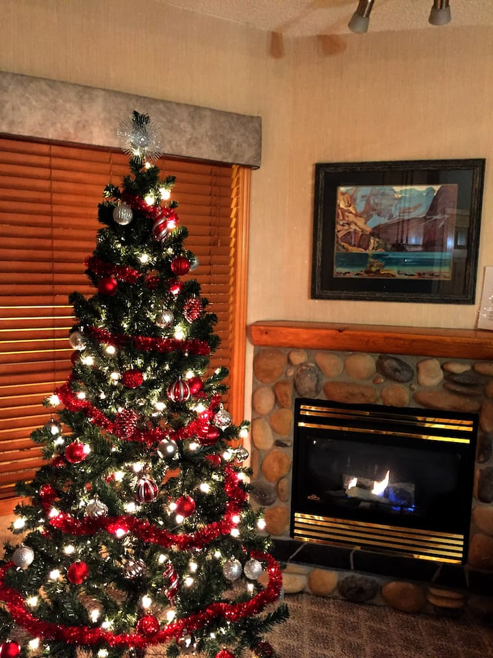 Relax By The Fire Near The Christmas Tree In The Mountains This Year!