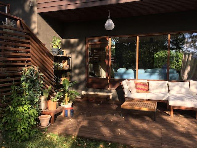 Designer villa with large, private garden