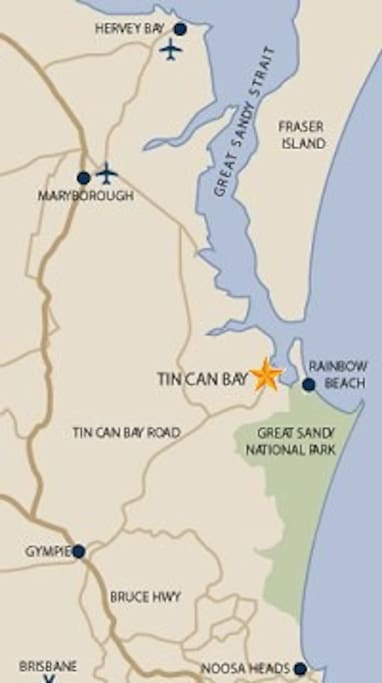 Map of Tin Can Bay