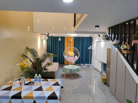 沙县|loft复式公寓|网红泡泡椅