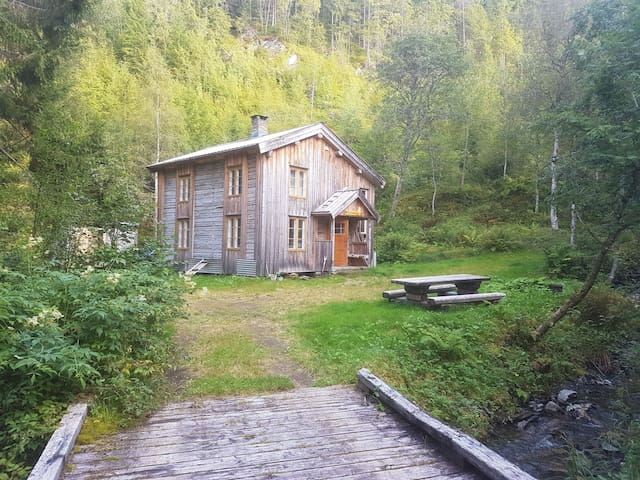 Renoveted old house, in the forest by the lake