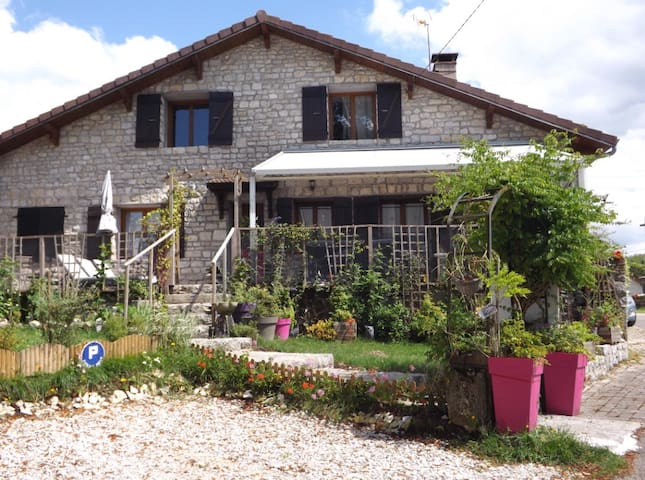 B&B pour 2, 3 ou 4 (room Chalain) - Songeson - Bed & Breakfast