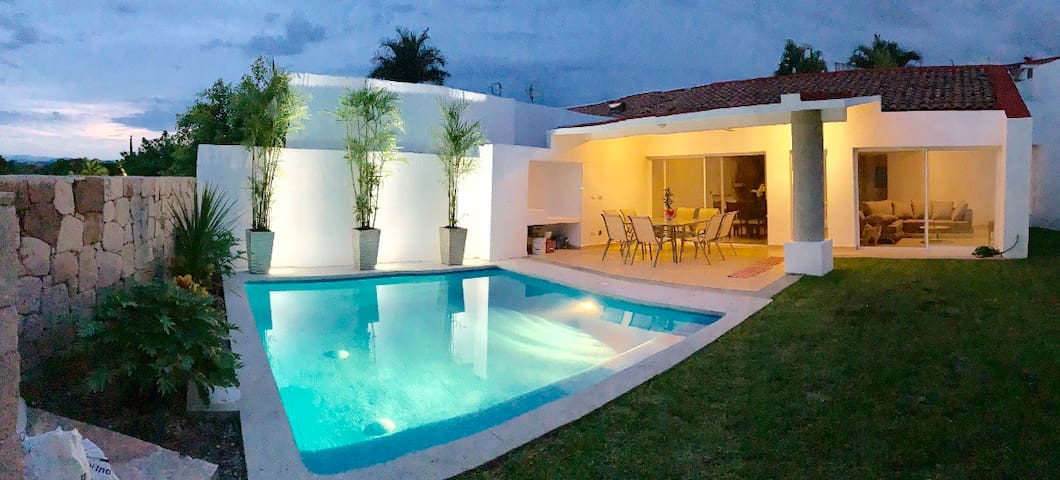 Contemporary villa with private pool and garden