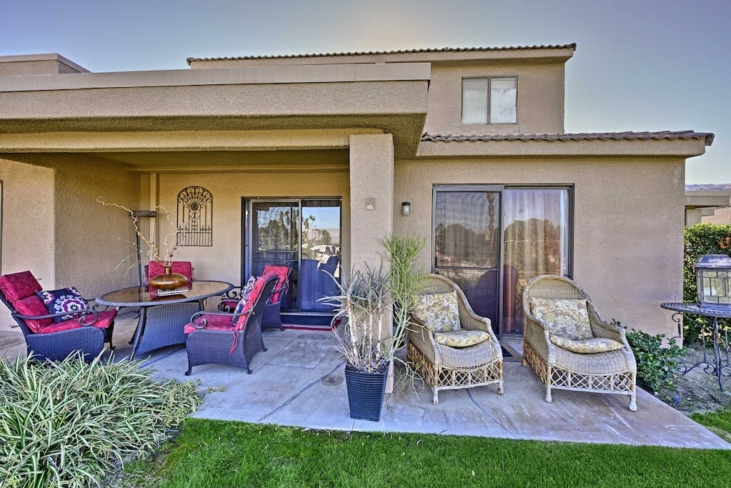 Featuring a private patio with ample seating, this townhouse makes it easy to unwind outside with your loved ones.