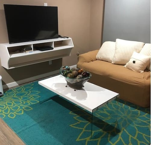 Sitting area with plenty of DVD's and Netflix at your disposal