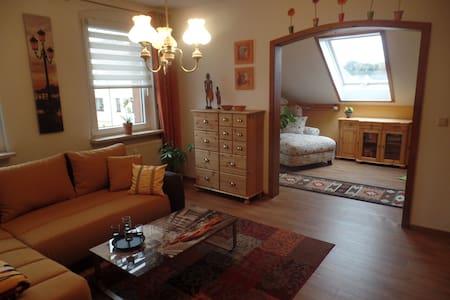 Gemütliche Dachgeschosswohnung mit tollem Ausblick - Wilkau-Haßlau - Apartment
