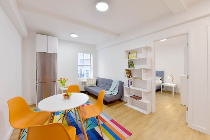Furnished 1 BED steps to Central Park and Opera