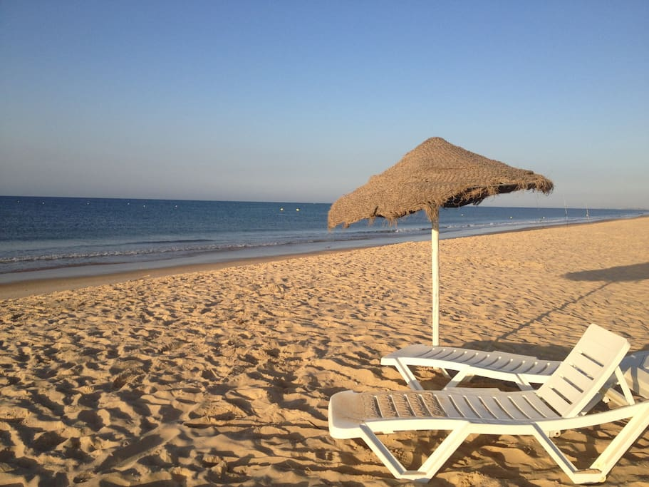 It is possible to rent sunbeds and parasols on the beach, in the summer season.