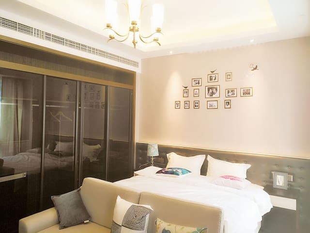 金鸡湖摩天轮\诚品书店\博览中心附近酒店式公寓大床房(4)