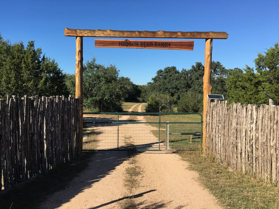 Guest entrance to Hudson Bend Ranch