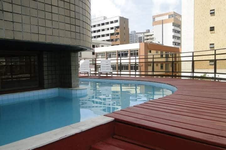 Flat á 100 metros da Feirinha da Beira Mar,piscina