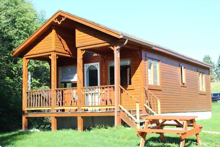 Inviting chalets with view of the Chaleur Bay