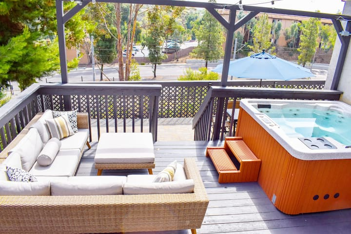 OPEN 3-Tier Patio & Hot Tub in Downtown La Mesa