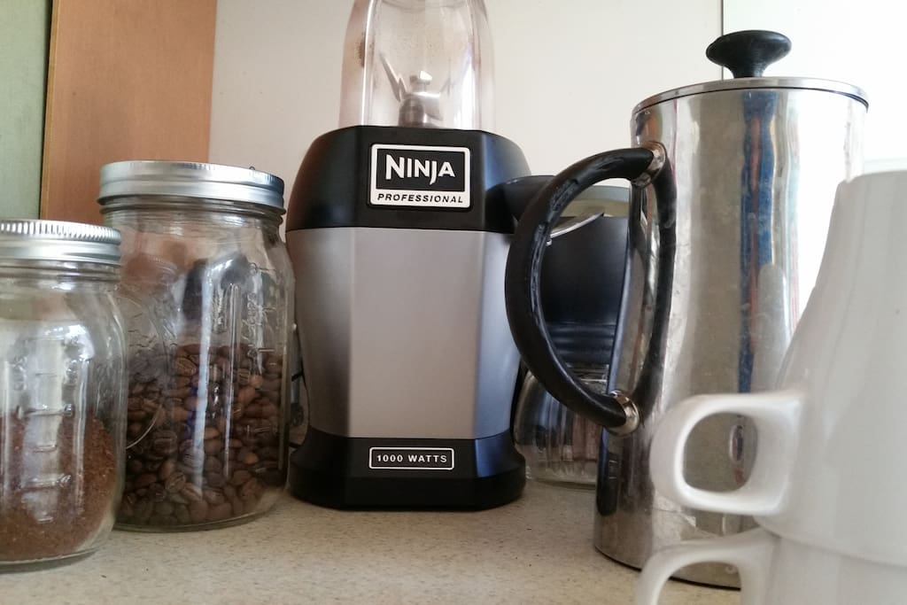 Make a fruit smoothie or grind some coffee beans for a fresh French press. Enjoy!