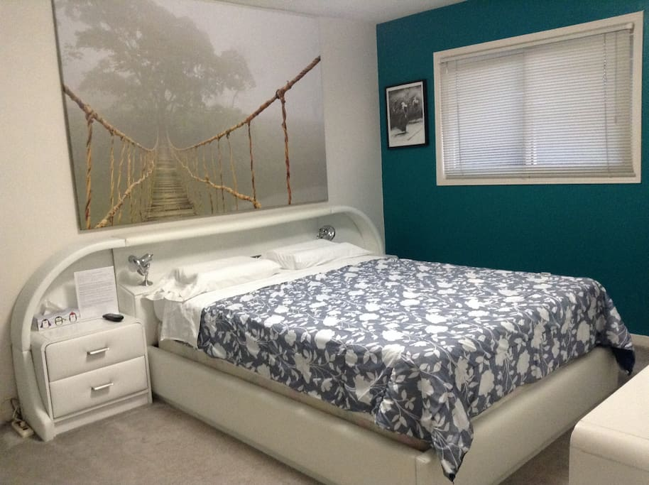 Your bedroom with queen size bed