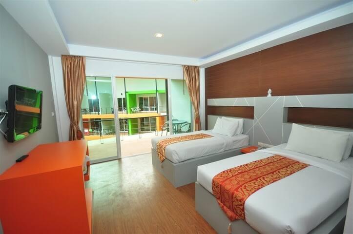 Modern Room Twin beds on Phi Phi