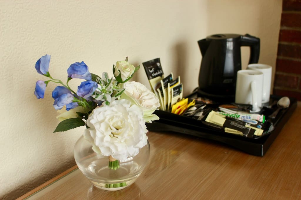 Tea and Coffee provided in room
