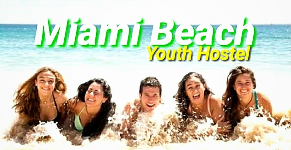 Miami Beach Youth Hostel (Male Room) Free Bus
