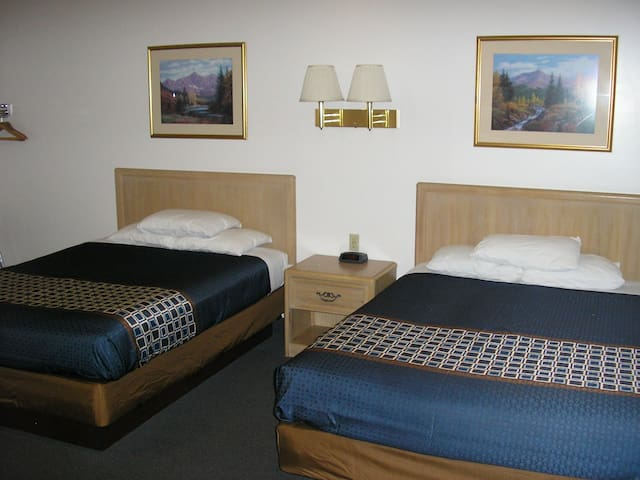 Motel room, clean, private 2 beds, great location