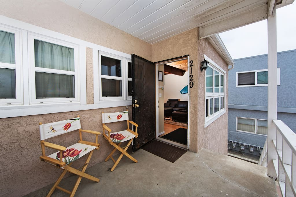 Front Porch and entry into unit.