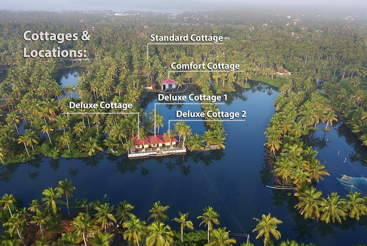 Munroe Island Lake Resort-Deluxe Cottage 1