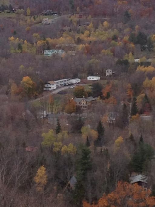 View of Roseberrys from the Skyride at Hunter Mtn