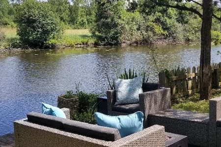 Fox Lake semi-wooded waterfront. On 3 Properties!