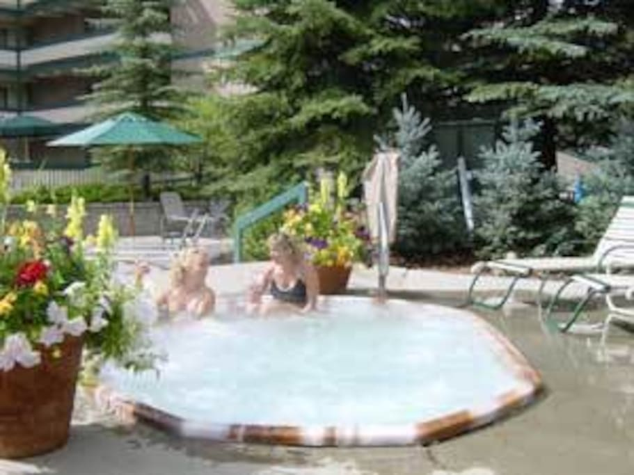 One of the 2 Hot Tubs on site