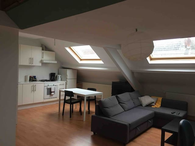 Ruime lichte studio