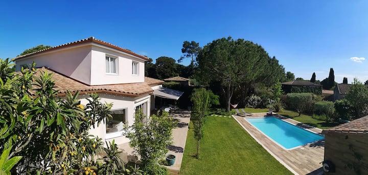 Villa avec piscine au calme (Vérargues Hérault 34)