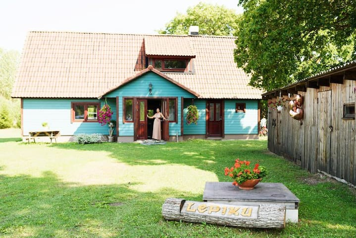 Private house with sauna in Liiva village centre.